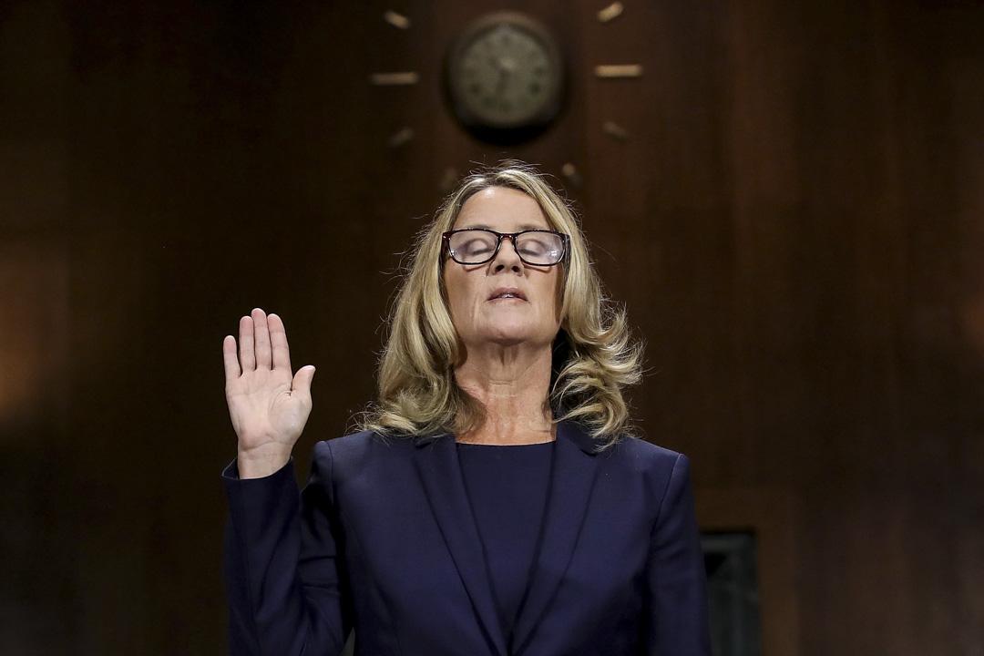 2018年9月27日,參議院司法委員會召開有關克里斯蒂·福特(Christine Ford)對卡瓦諾的實名性侵指控聽證會。