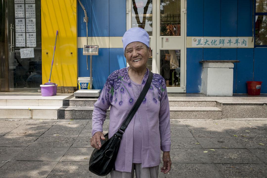 麻艷芬,80歲,來自寧夏,到牛街觀光。