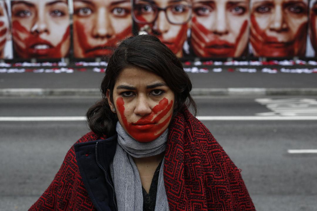 2016年6月10日,巴西聖保羅舉行反對暴力侵害女性示威。