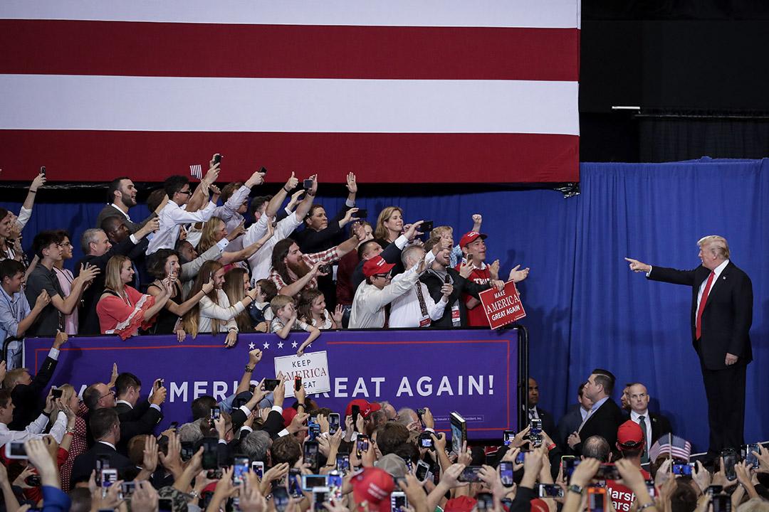 在特朗普時代,沒有什麼比特朗普本人更能改變美國政壇的走向了。 攝:Drew Angerer/Getty Images