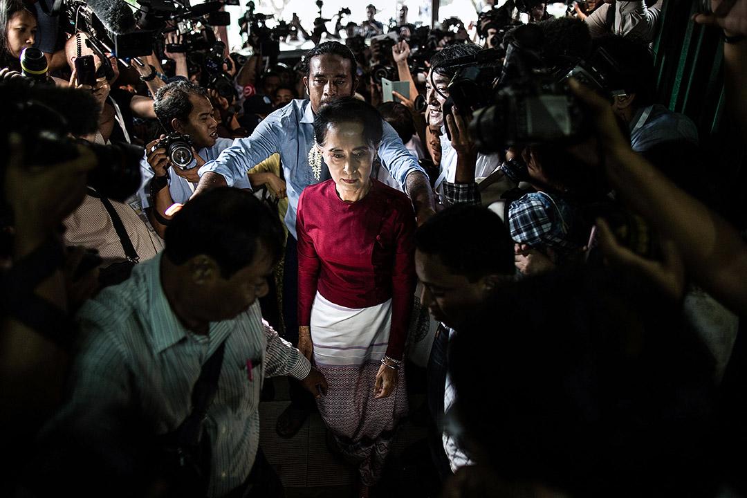 昂山素姬已成為不少媒體和歐美國家眼中「失寵的民主偶像」。 攝:Lam Yik Fei/Getty Images
