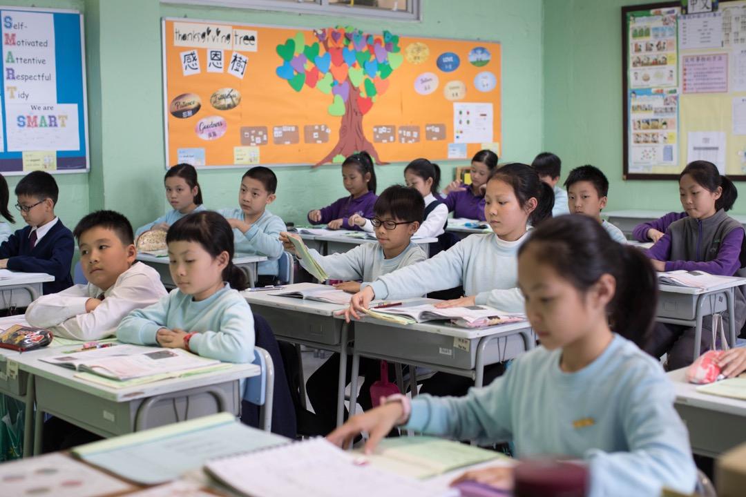 沙田一所小學以普通話教授的一堂中文科。 攝:Stanley Leung/端傳媒
