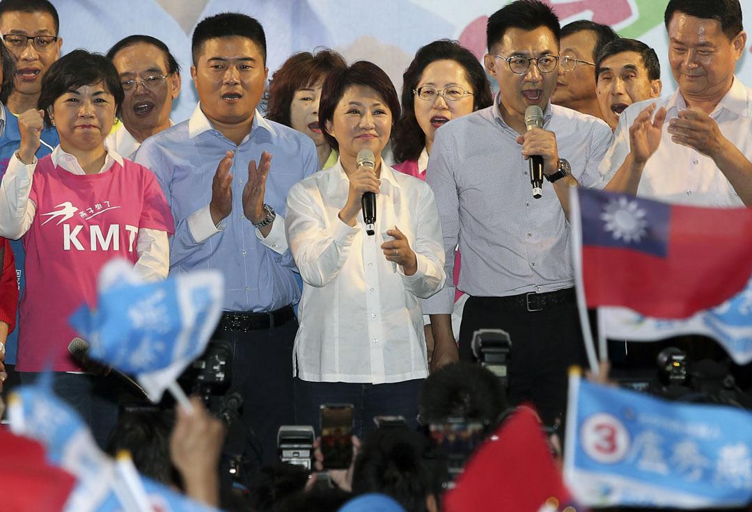 國民黨盧秀燕以百分之56得票率對百分之42的擊敗尋求連任的民進黨林佳龍。