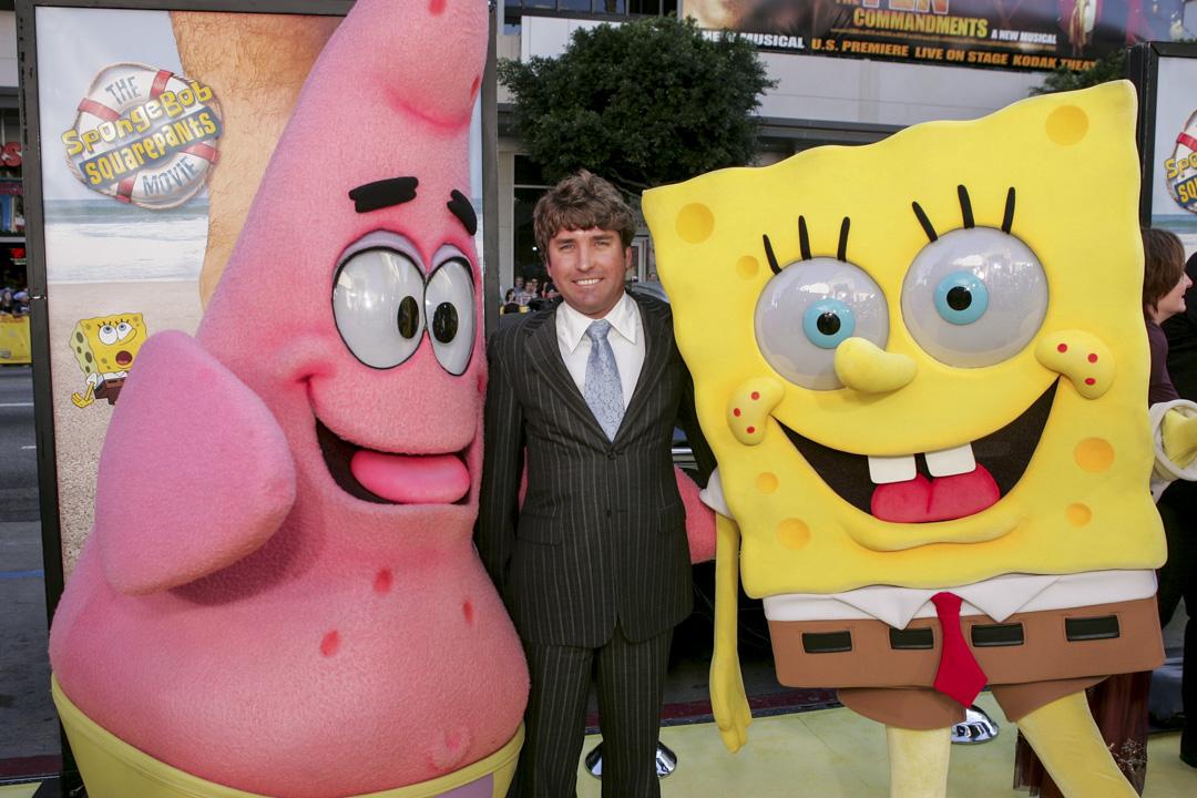 美國著名動畫《海綿寶寶》(SpongeBob SquarePants)的創作者Stephen Hillenburg在當地時間2018年11月27日去世,終年 57 歲。 攝:Eric Charbonneau ® Berliner Studio / BEImages