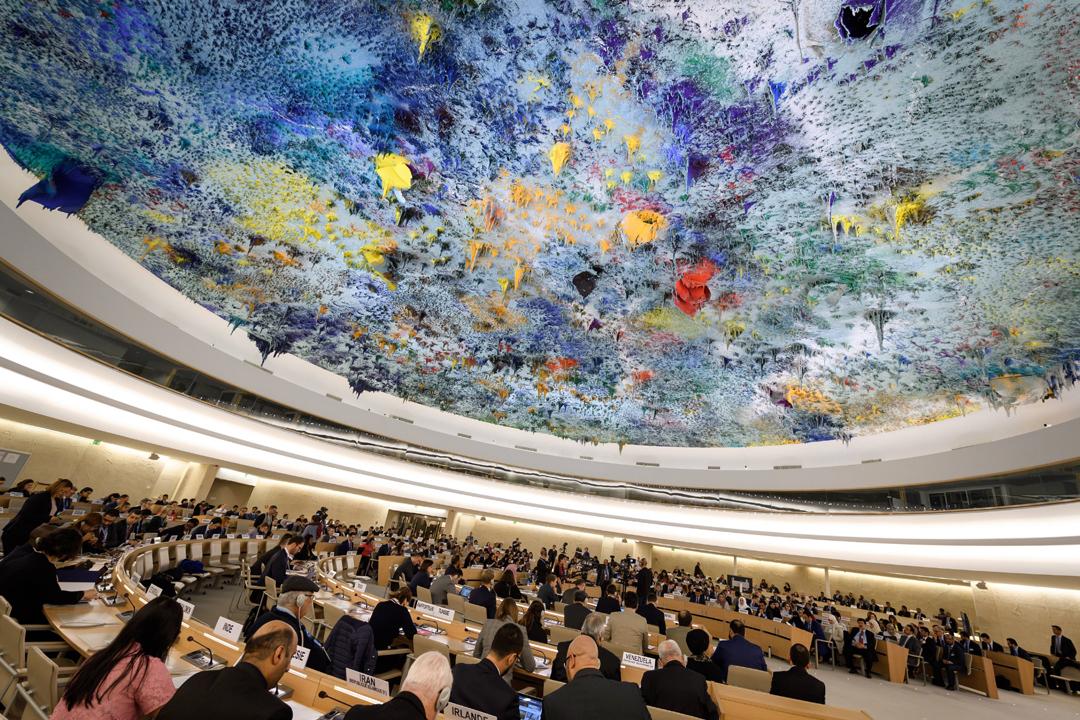 聯合國人權理事會今天在瑞士日內瓦舉行對中國人權狀況的第三次定期審議。 攝:Fabrice Coffrini / AFP / Getty Images