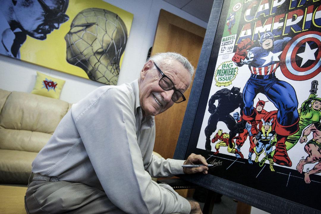 美國著名漫畫家、「漫威之父」史丹·李去世,終年95歲。 攝:Barbara Davidson/Los Angeles Times via Getty Images