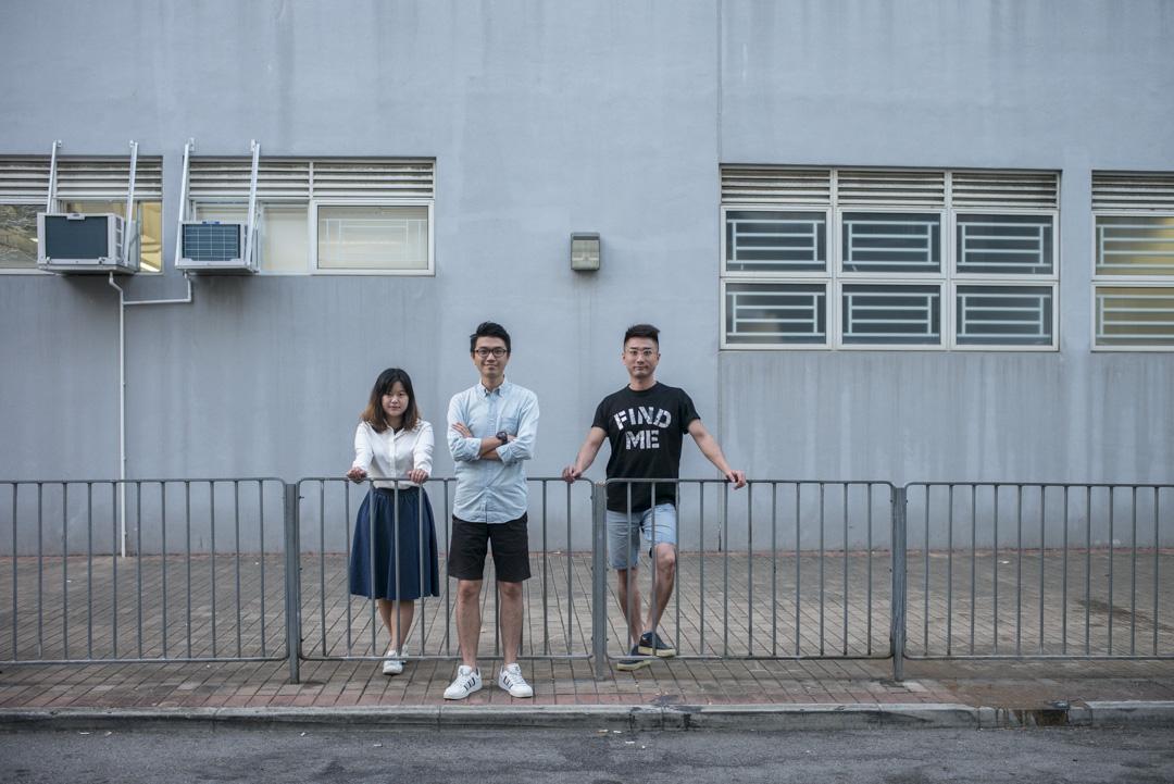 實驗團隊「行多步實驗室」成員Hermion、阿霖與阿徐。