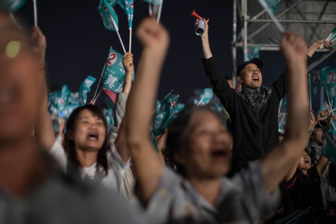2018年11月23日,台灣高雄市,民進黨市長候選人陳其邁舉行選前之夜造勢大會。