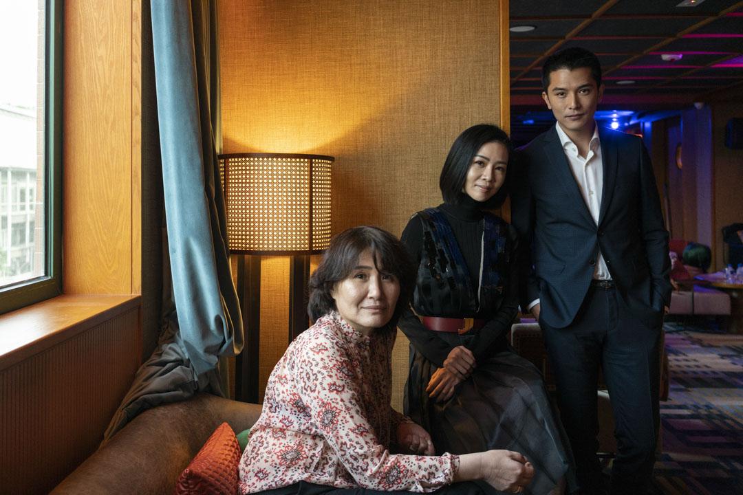 《誰先愛上他的》編劇徐譽庭、女主角謝盈萱及男主角邱澤。