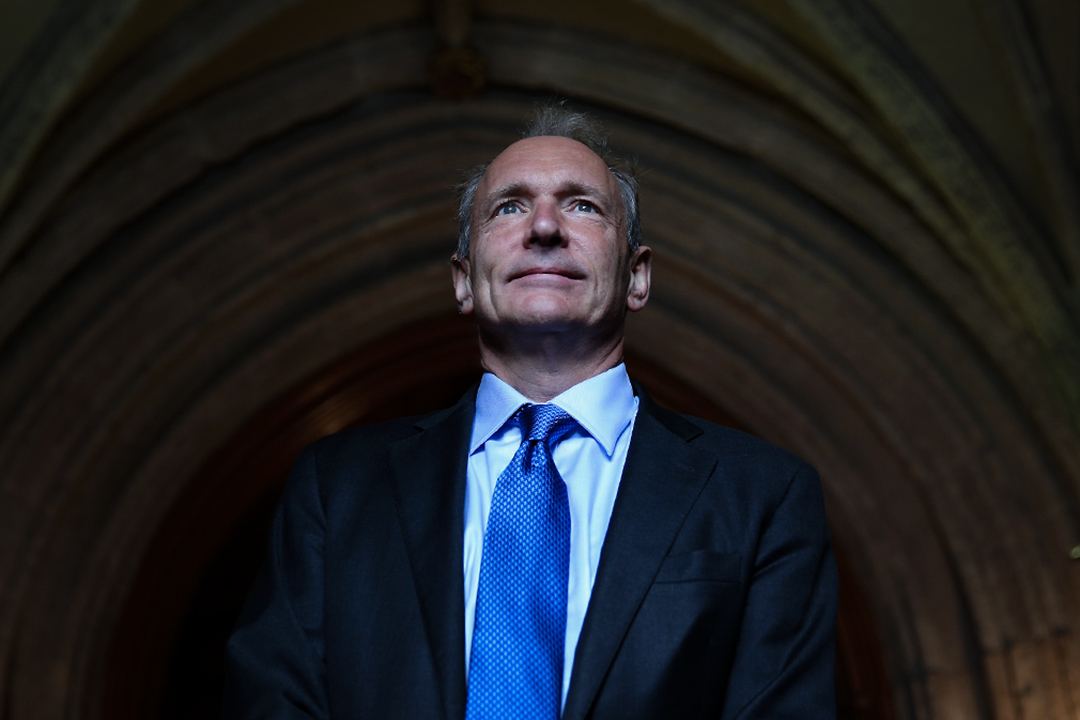 互聯網之父Tim Berners-Lee擬訂新網絡秩序。 攝:Peter Macdiarmid/Getty Images