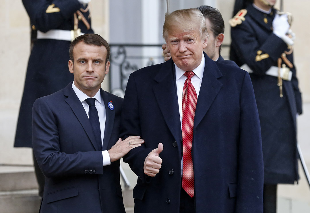 特朗普未來或在內政上沒有什麼變化,但在外交上可能會採取動作。他剛剛去法國參加一戰結束一百週年紀念日,結果轉身就發推痛罵馬克龍。
