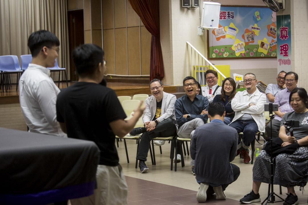 2018年11月17日,面臨審訊前夕,戴耀廷與陳健民參加團體為佔中九子舉辦的祈禱集氣大會。