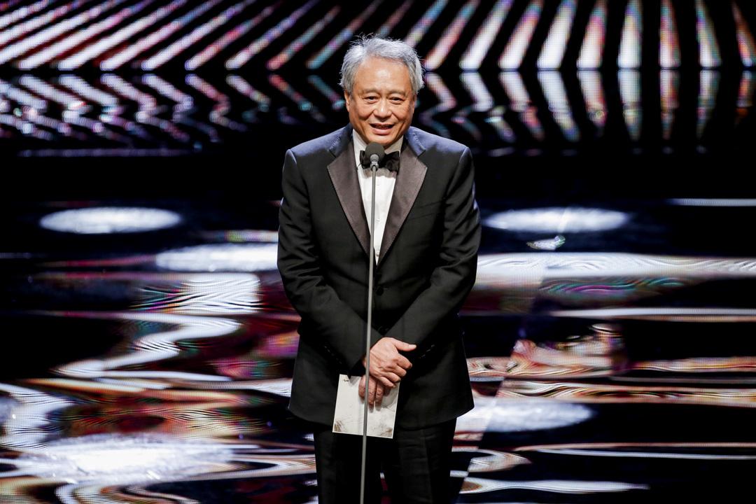 第55屆金馬獎現場,金馬獎主席李安頒發最佳劇情長片。 攝:Imagine China