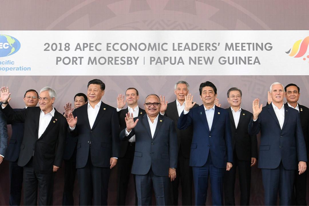 2018年11月18日,亞太經合組織(APEC)第二十六次領導人非正式會議閉幕。 攝:Saeed Khan/Getty Images