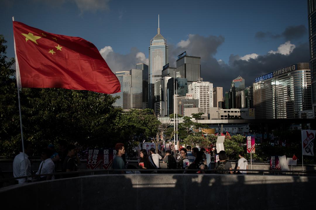 美國「美中經濟與安全審查委員會」(USCC)發表年度報告,指香港人權、法治、言論自由等正被中國政府持續蠶食。 攝:Philippe Lopez / AFP / Getty Images