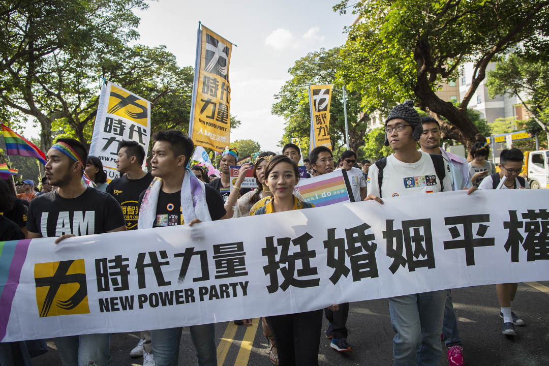 2018年10月27日,時代力量參加台北同志遊行。