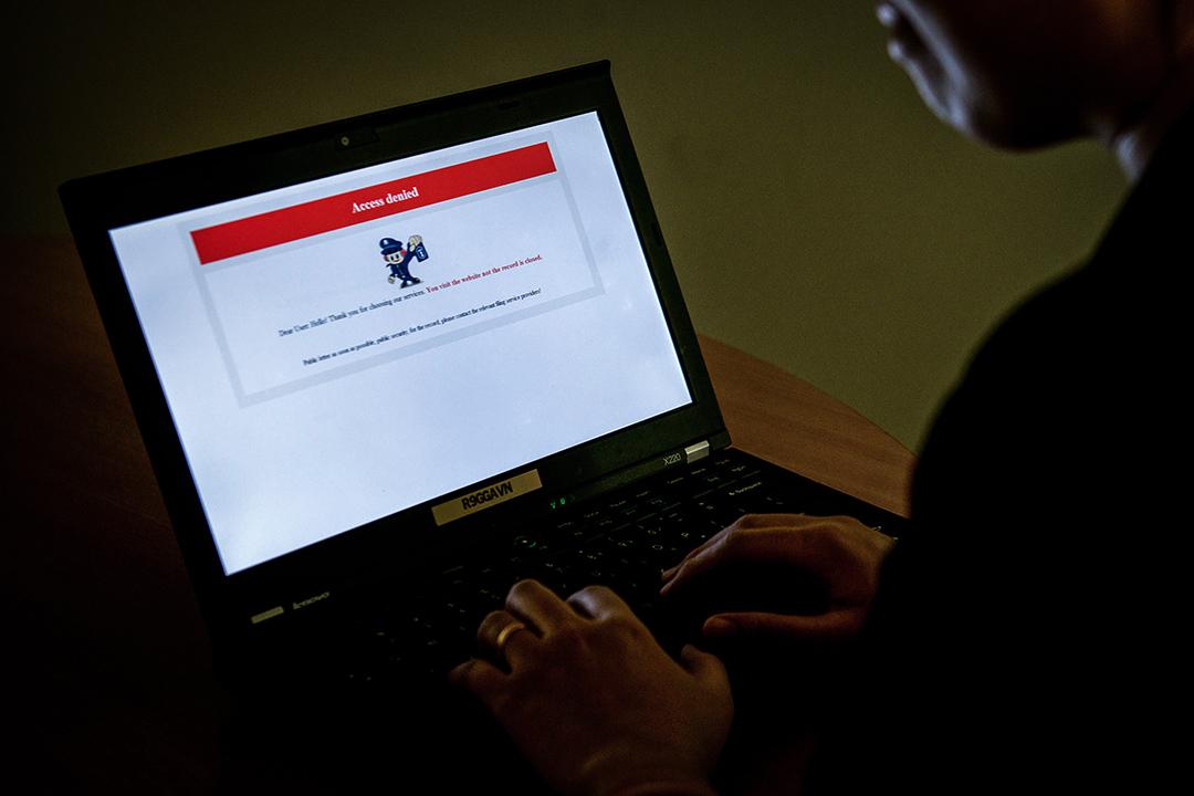 中國網信辦處置近萬自媒體帳號。 攝:STF/AFP via Getty Images