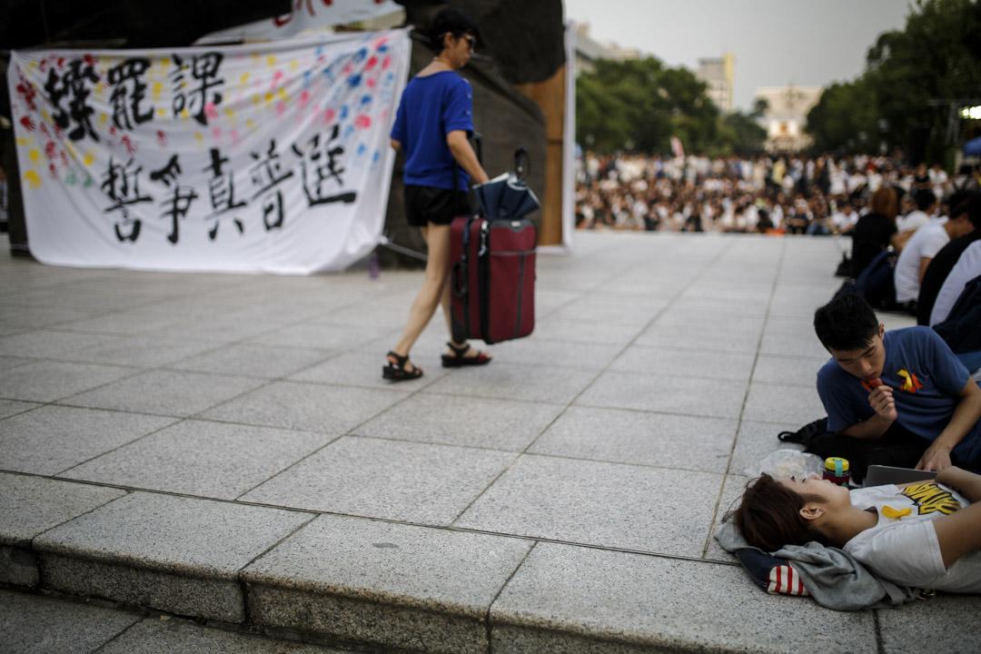 2014年9月22日,中大百萬大道有13,000人出席大專罷課啟動集會,被視為是香港史上最大規模的大專學生罷課。