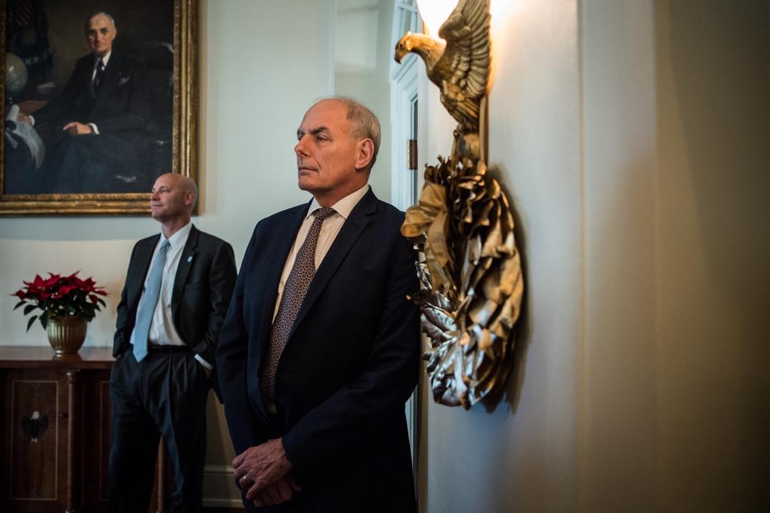 12月8日,特朗普宣布現任白宮幕僚長凱利將於年底離任。 攝:Salwan Georges/The Washington Post via Getty Images