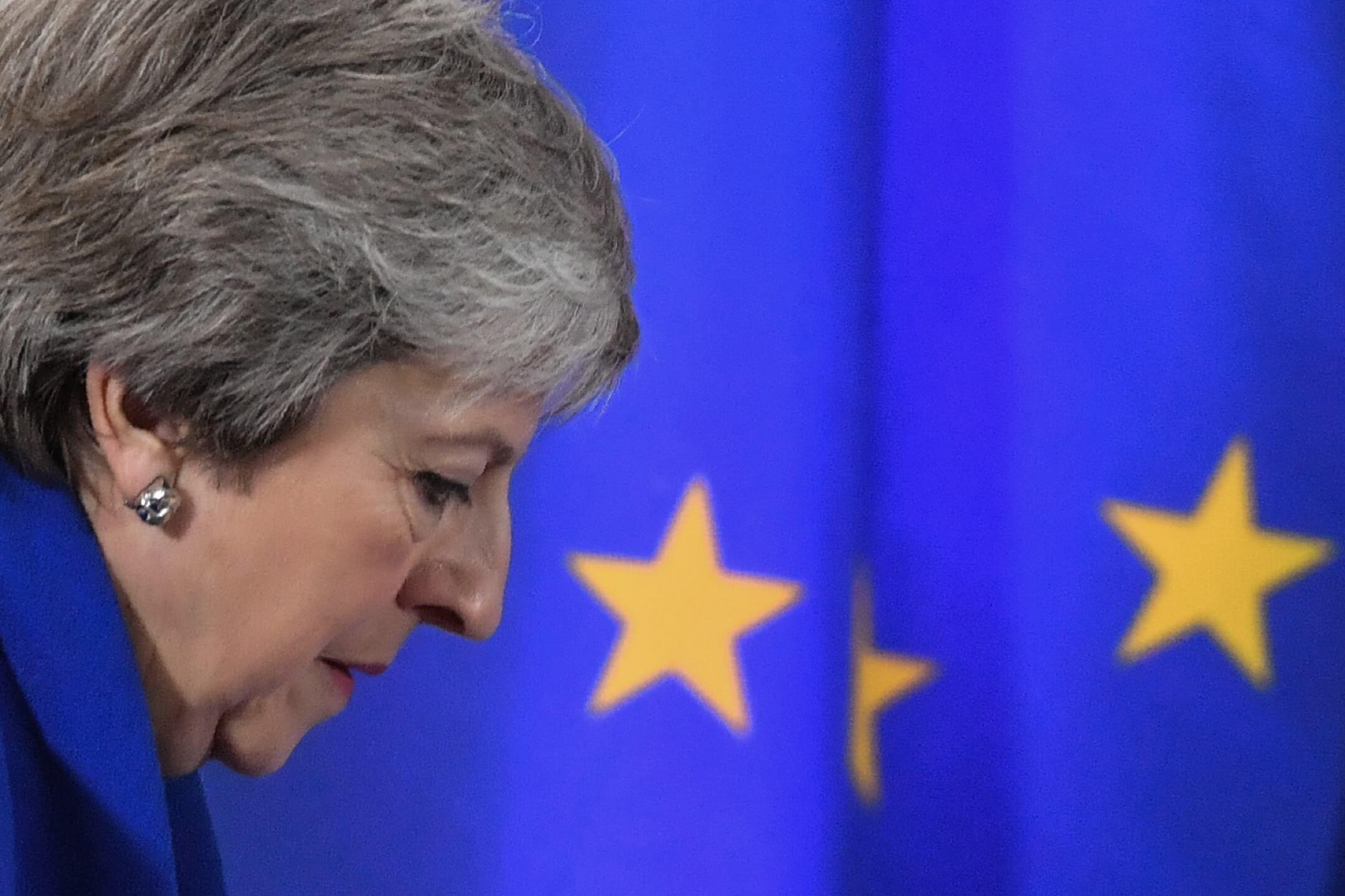 12月11日,英國首相文翠珊將攜帶這份協議在英國議會接受投票,被視為脱歐協議的生死一戰。 攝:Emmanuel Dunand/AFP via Getty Images