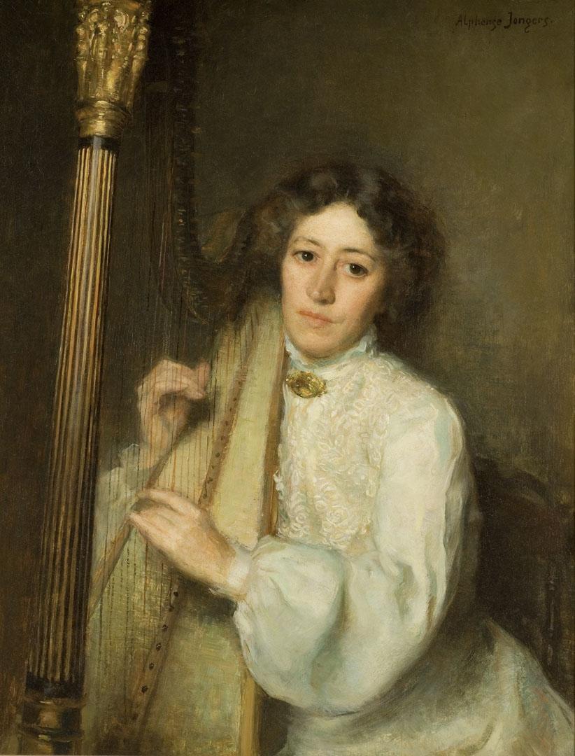 畫家阿爾彭思•將傑筆下的弗洛倫斯小姐(1903)。