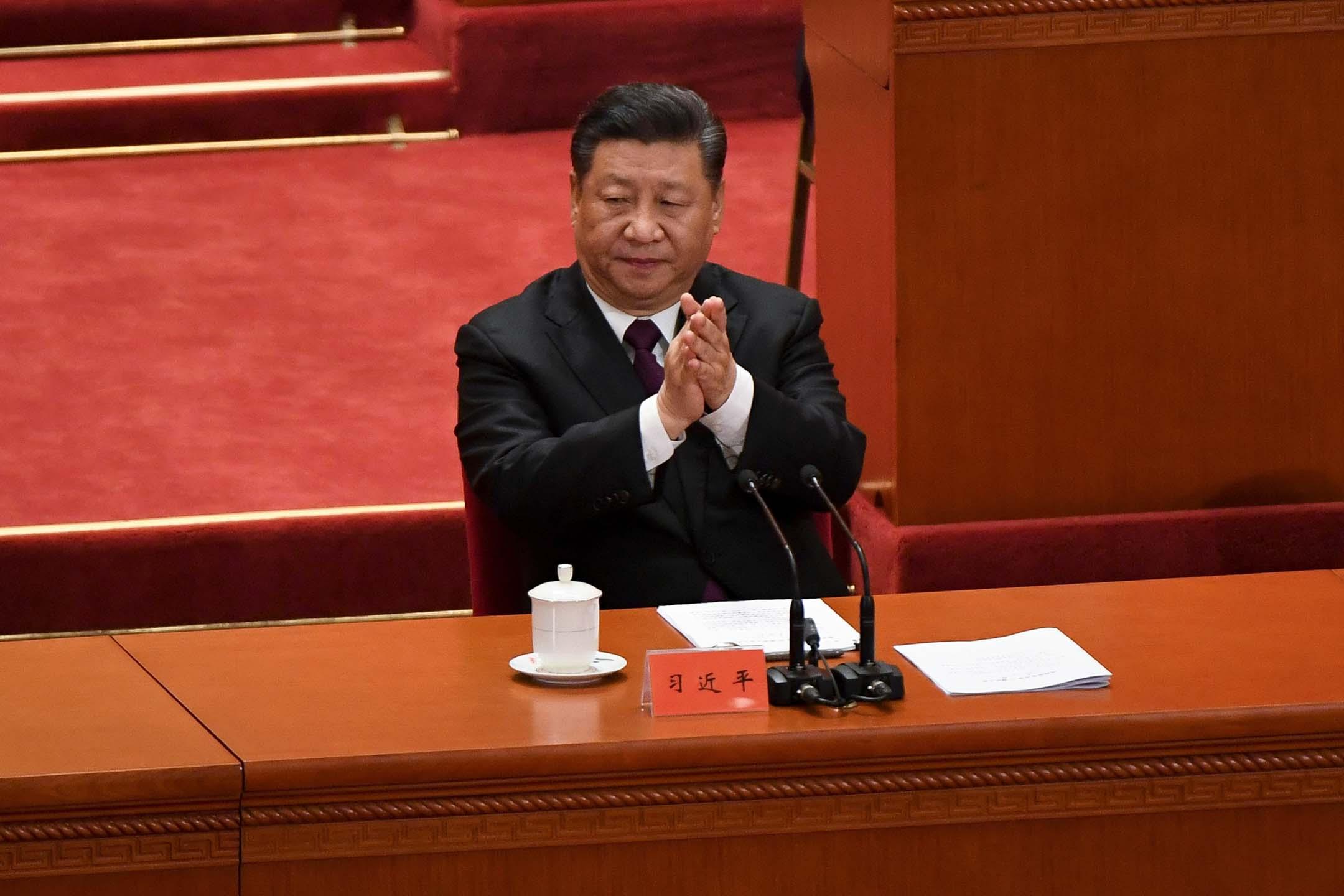 中國國家主席習近平在12月18日的慶祝改革開放40週年大會上再次強調了中國自鄧小平時代就建立的一項原則:「永不稱霸」。 攝:Wang Zhao/AFP/Getty Images