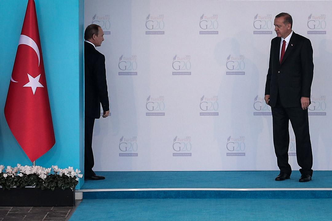 此時此刻的土耳其已不再是從前那個積極加入歐盟的「西方國家」。圖為2015年11月25日年埃爾多安在G20峰會上。