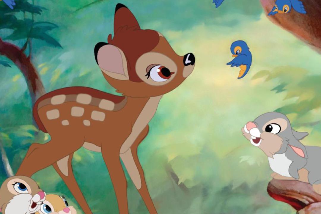 電影《小鹿斑比》截圖。 圖:網上圖片
