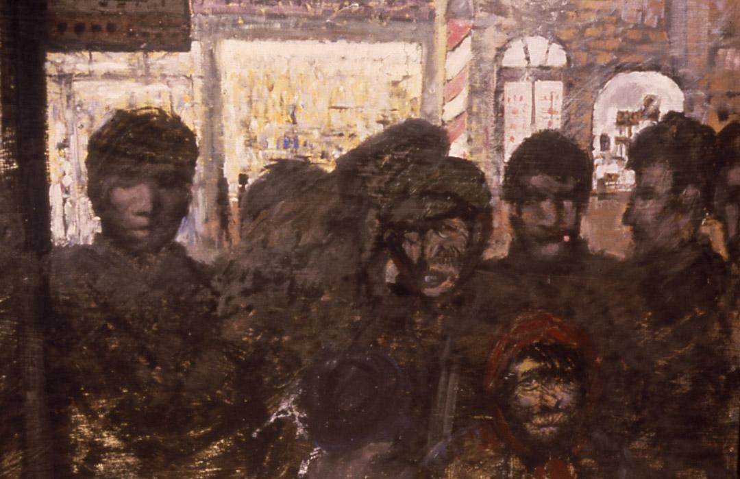 馬建七九年的油畫作品《車站》。