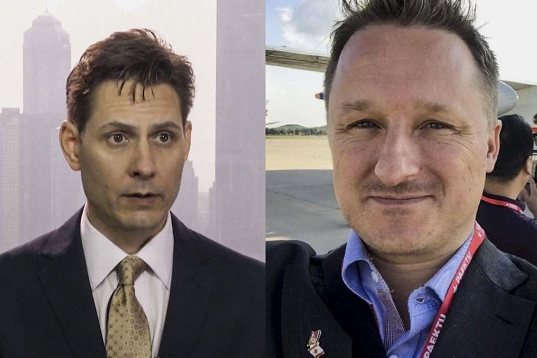 中國外交部證實,加拿大公民康明凱(Michael Kovrig,左)和斯帕弗(Michael Spavor,右)因涉嫌從事危害中國國家安全的活動,被國家安全部門採取強制措施。 攝:網上圖片