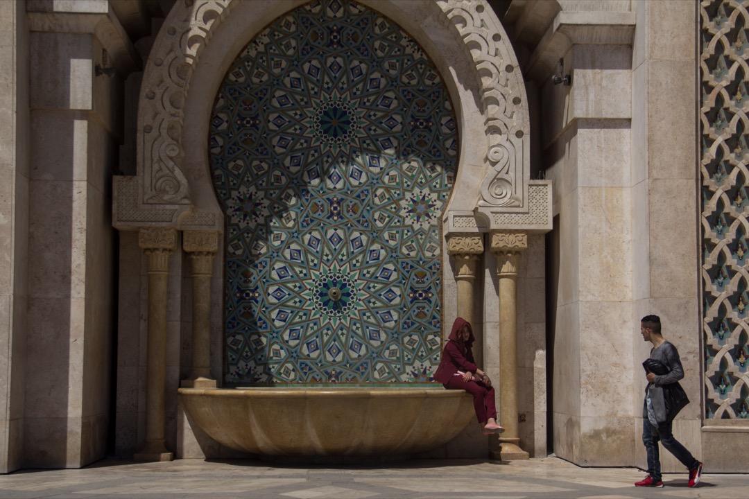摩洛哥最大城市卡薩布蘭卡的哈桑二世清真寺。