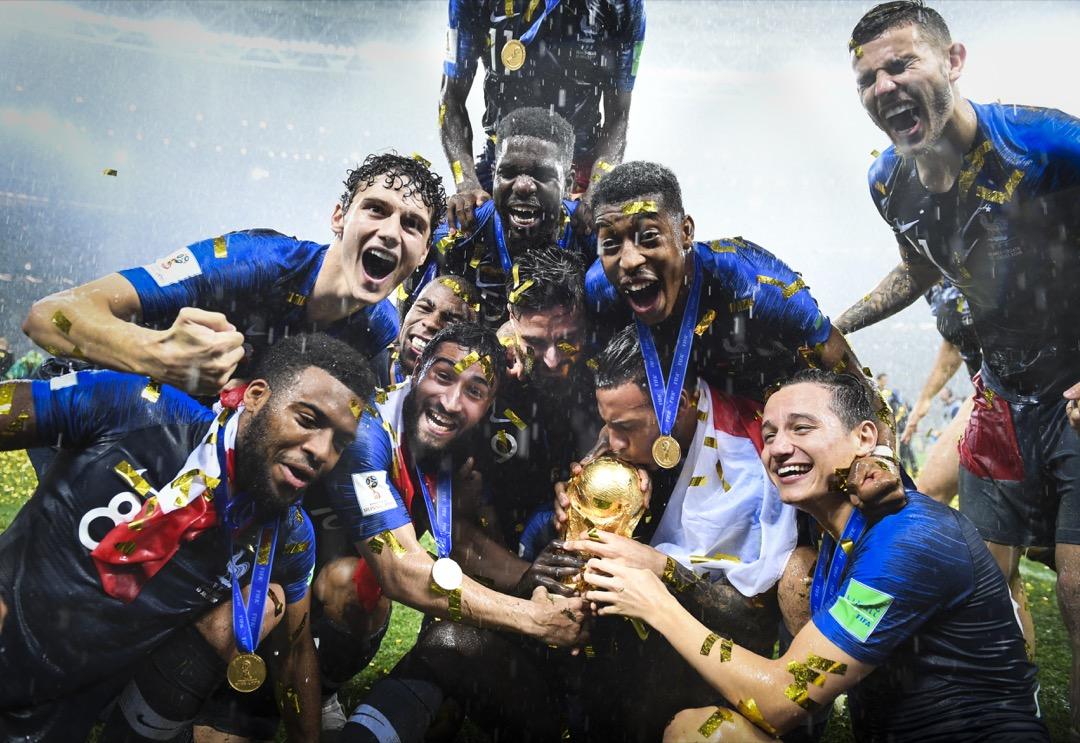 2018年7月15日,俄羅斯莫斯科盧日尼基體育場,法國以4比2擊敗對手克羅地亞成為2018世界盃冠軍。