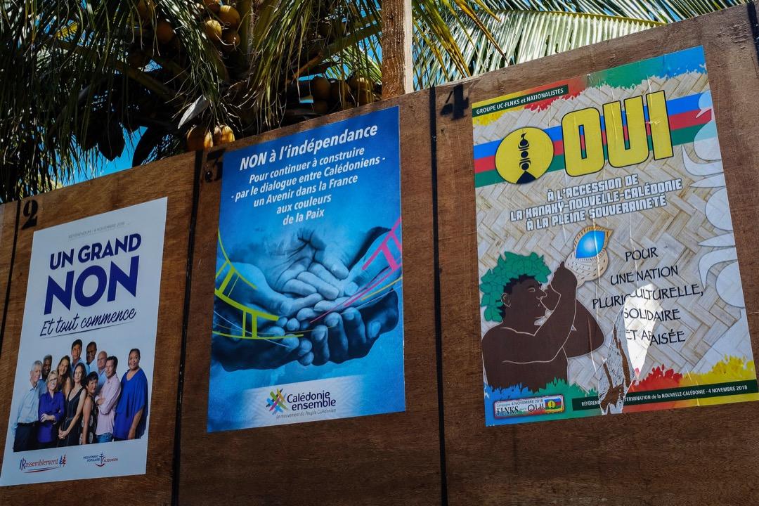 位於亞太地區的法國海外特殊地方自治團體——新喀里多尼亞於11月4日熱烈舉辦獨立公投。反對方以過半數比例否決了新喀里尼多尼亞脫離法國,自主建國的方案。 攝:Theo Rouby/AFP/Getty Images