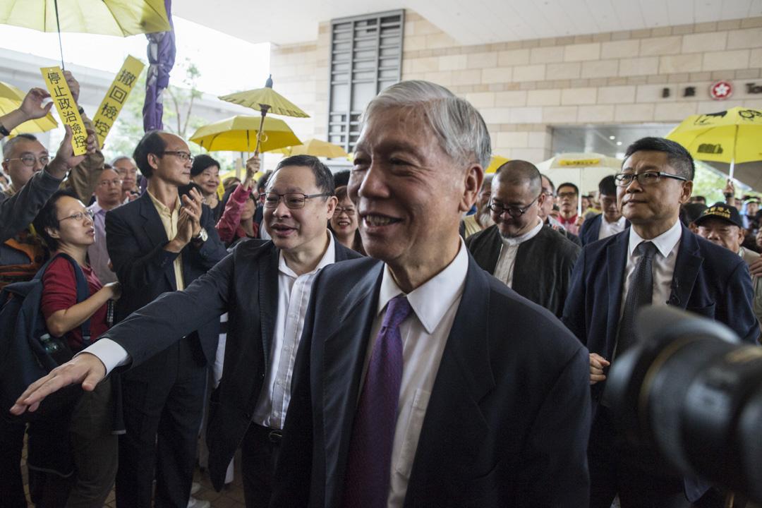 2018年11月19日,香港「佔中九子案」在西九龍裁判法院正式開審。 攝:林振東/端傳媒