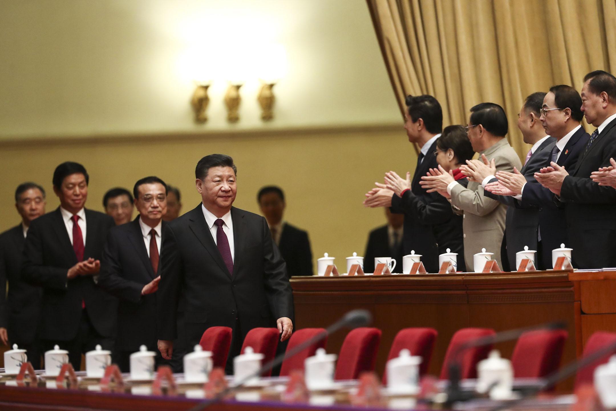 2018年12月18日,慶祝改革開放40周年大會在北京舉行,中共中央總書記、國家主席習近平出席大會並發表講話。 攝:Sheng Jiapeng/China News Service/VCG via Getty Images