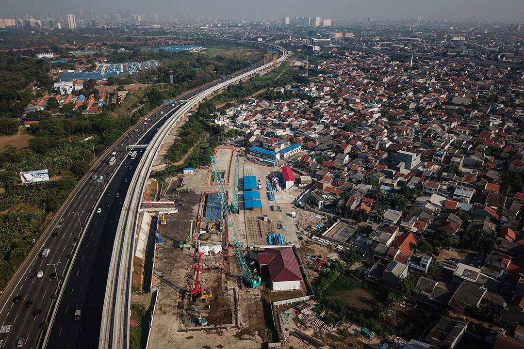 雅加達近郊的Cipinang Melayu村旁的工地。