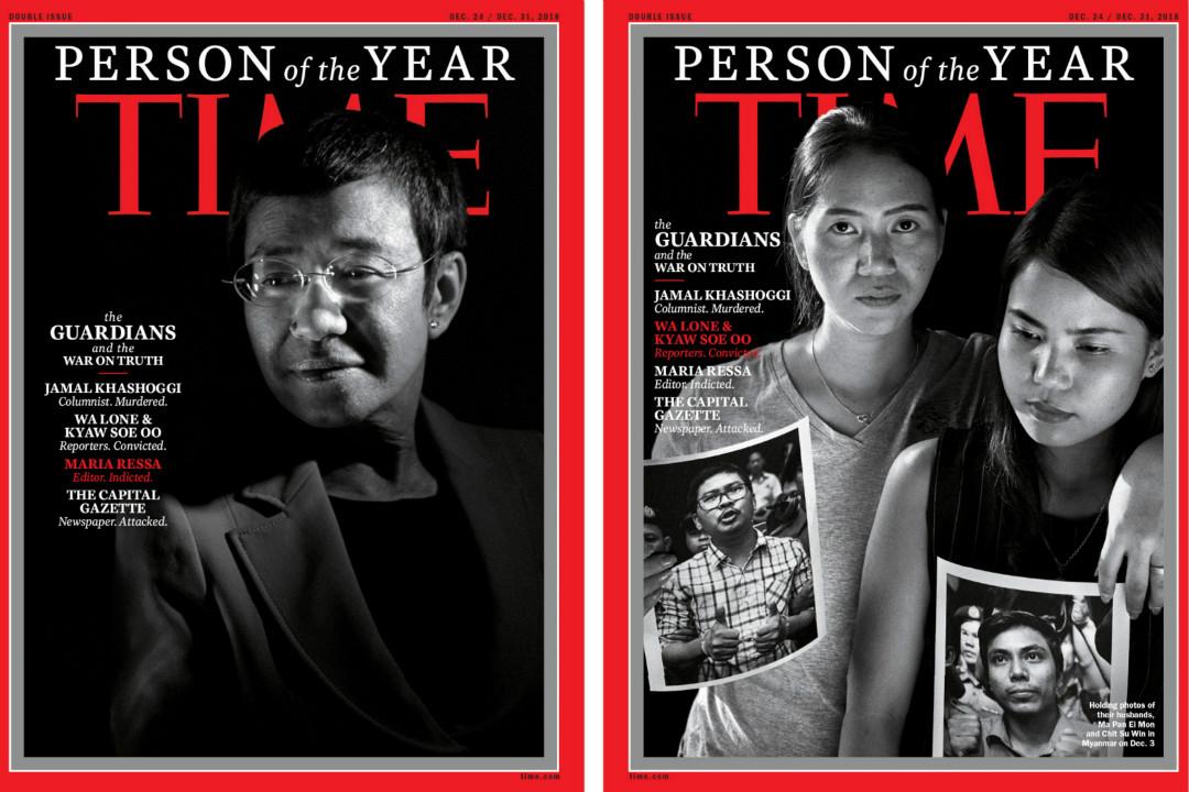 2018年12月11日,美國《時代》雜誌將全球多名遭遇殺害和監禁的記者評為年度風雲人物。