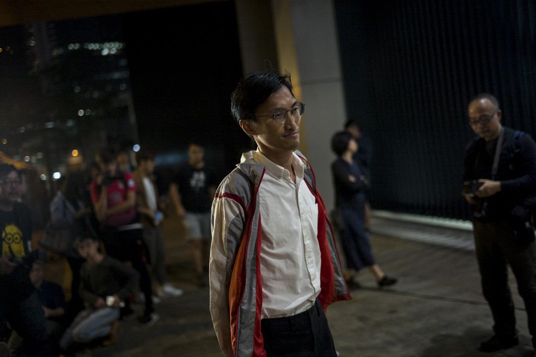 香港立法會議員朱凱廸被奪村代表參選資格。 攝:林振東/端傳媒