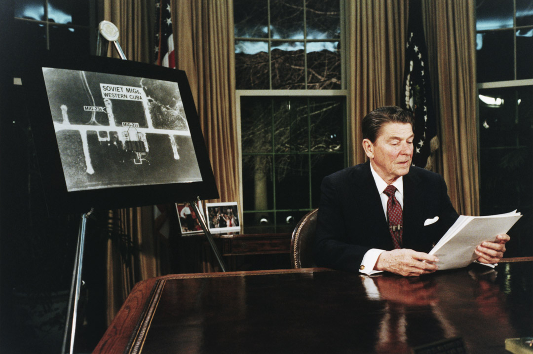 1983年,美國總統Ronald Reagan提出的Strategic Defense Initiative SDI核彈防衛系統。