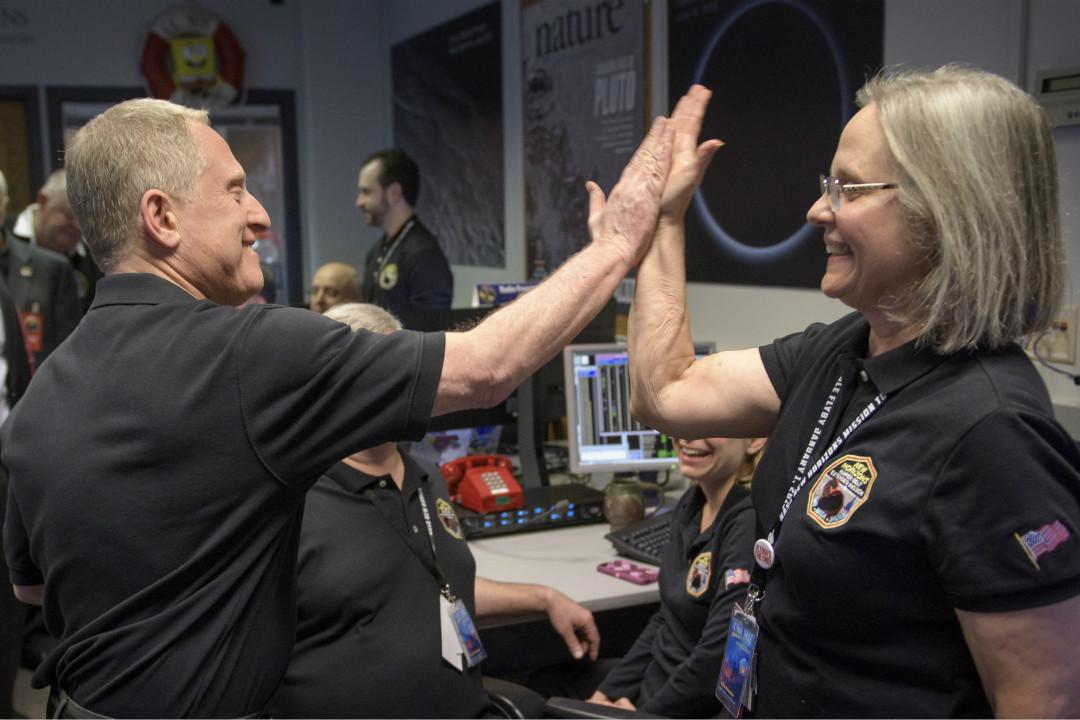2019年1月1日,美國太空總署(NASA)發射的「新視野」號(New Horizons)探測器成功飛掠「終極遠境」(Ultima Thule)。 攝:Imagine China