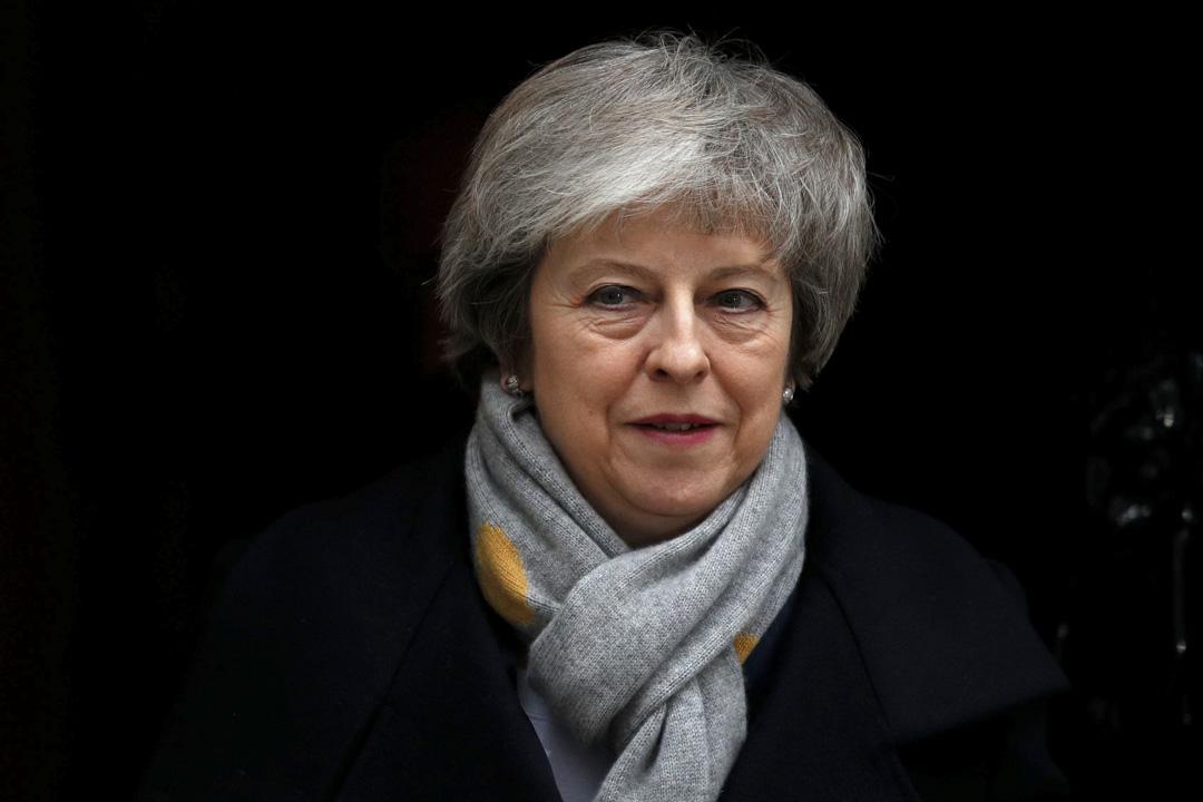 2019年1月15日,英國首相文翠珊(Theresa May)於每週一次的內閣會議後離開唐寧街十號。