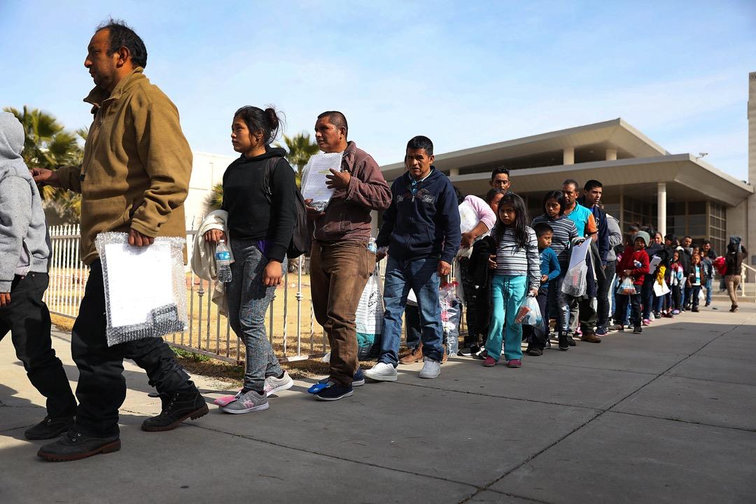 美國德州,尋求庇護的移民被移民和海關執法局後,來到埃爾帕索市的移民庇護所 Annunciation House。