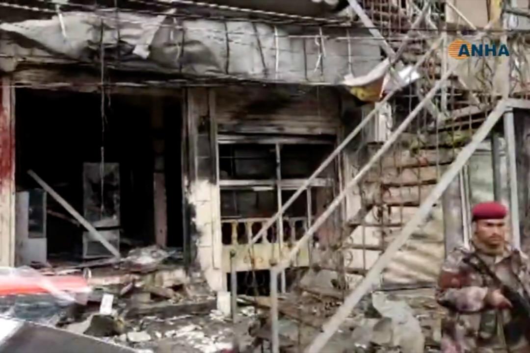 2019年1月16日,敘利亞北部城鎮曼比季(Manbij)發生疑似針對美軍士兵的自殺式爆炸襲擊,造成至少18人死亡,包括4名美國人。 攝:Getty Images