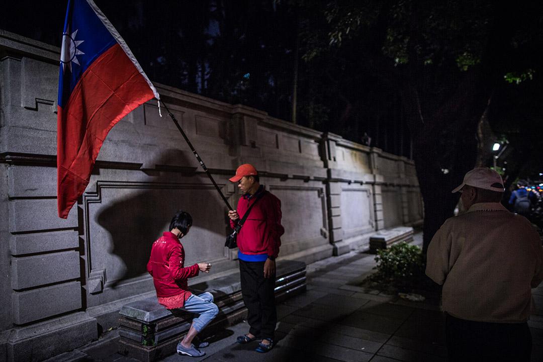 2018年11月23日,國民黨支持者在台北市長候選人的造勢晚會。
