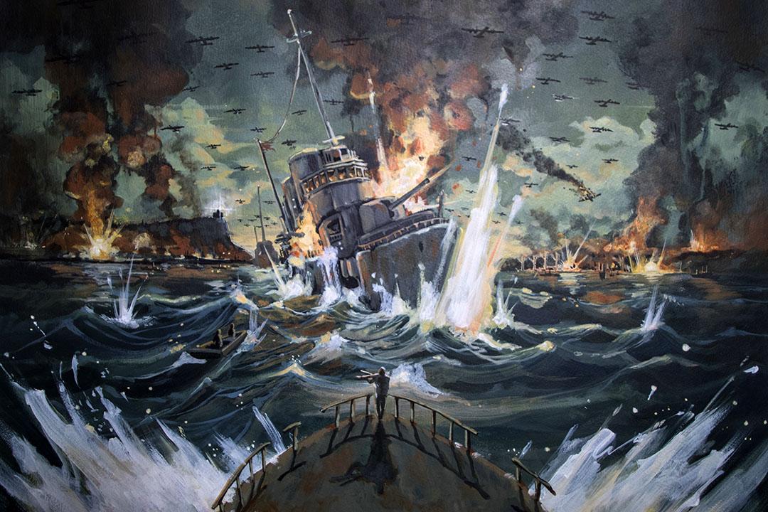 繪師諾米的《高雄大空襲》插畫。