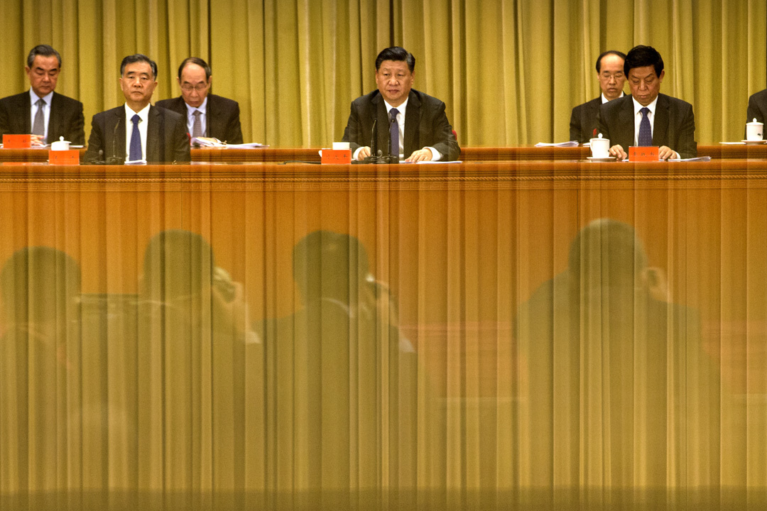 今年是中共全國人大常委會發表《告台灣同胞書》40周年,中共中央總書記習近平今天上午發表對台談話。 攝:Mark Schiefelbein-Pool/Getty Images