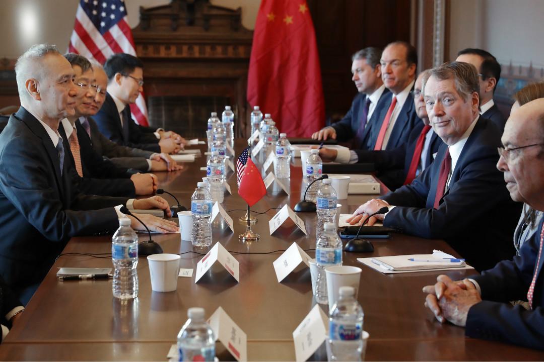 2019年1月30日,美國白宮,中國國務院副總理劉鶴與美方代表開始為期兩天的貿易談判。 攝:Chip Somodevilla/Getty Images