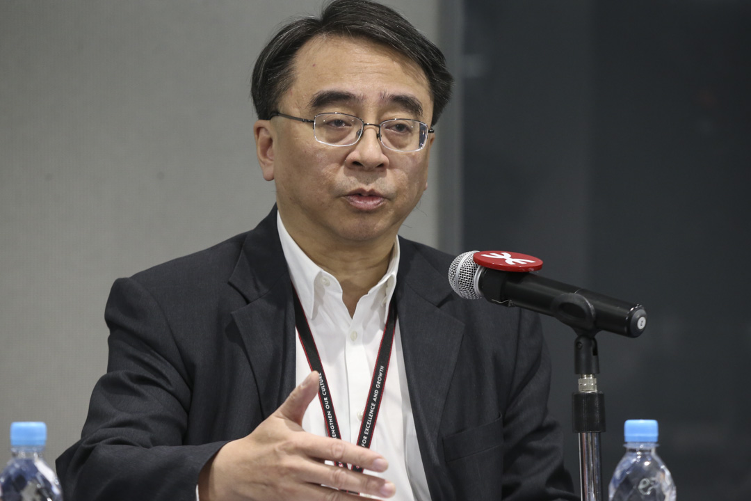 2018年12月24日,港鐵常務總監金澤培在港鐵記者會上發言。