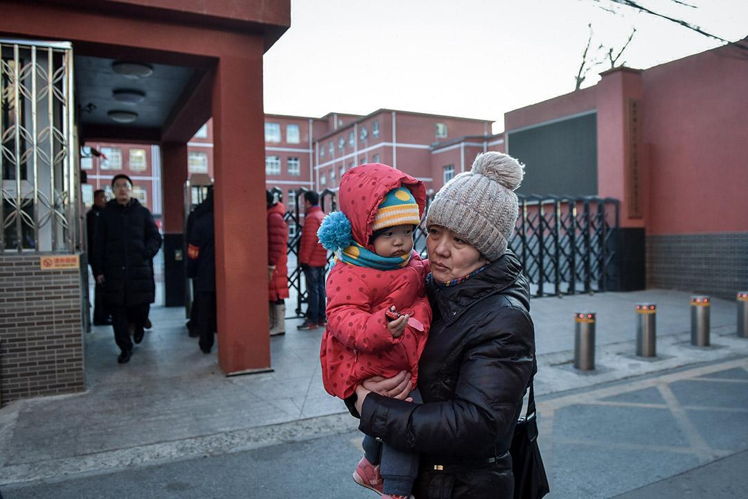 2019年1月8日,北京宣武師範學校附屬第一小學發生傷人事件。 攝:Greg Baker/AFP via Getty Images