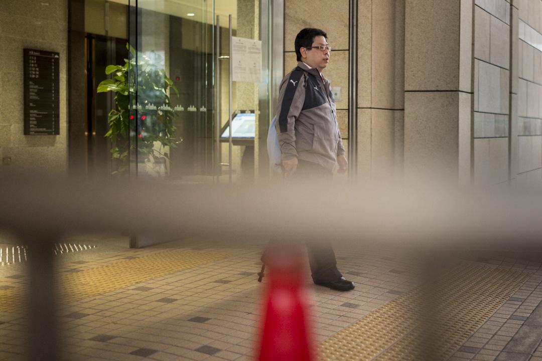 2019年1月9日,林子健被控一項「明知地向警務人員虛報有人犯罪」,法庭則裁定林子健控罪表面證供成立。 攝:林振東/端傳媒